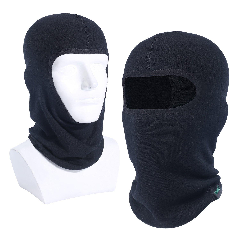 SUNMECI Winter Neck Gaiter Warmer Windproof Dust - free UV Face Mask Black