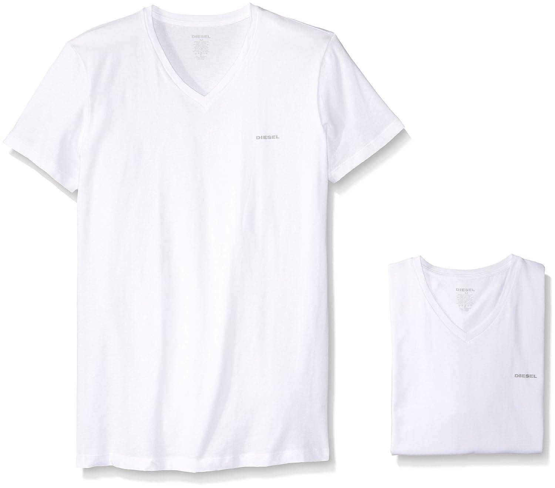 Diesel mens Jake 3-pack Essentials V-neck T-shirt Diesel Men' s Underwear 00SPDM0AALW