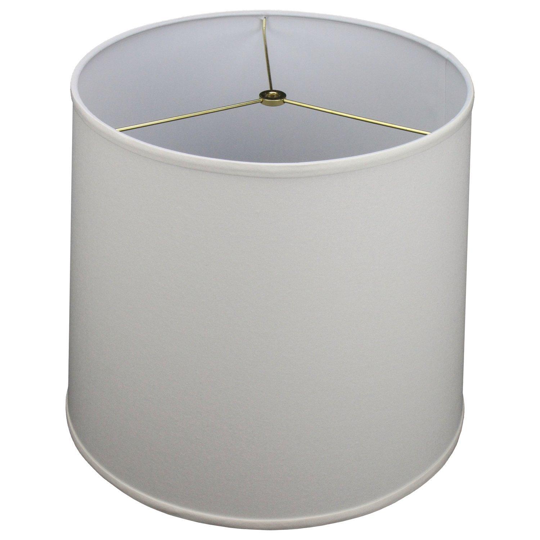 FenchelShades.com 14'' Top Diameter x 16'' Bottom Diameter 14'' Slant Height Lampshade USA Made (Cream)
