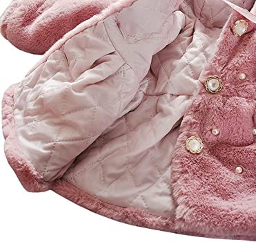 Cute Baby Faux Fur Coat Girls Kids Coat Autumn Winter Warm Children Clothes AnKoee for 0-2 Years Old