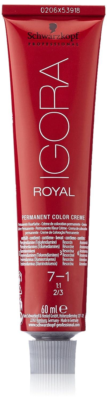 Schwarzkopf Igora Royal Tinte Permanente, Tono 7-1 - 60 ml