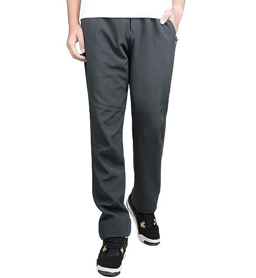 9027b2e941c8c Alleza Pantalon de Randonnée Polaire Softshell Imperméable Coupe-Vent en Plein  Air Automne Hiver Homme  Amazon.fr  Vêtements et accessoires