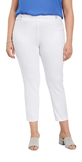 b23763d8ad3 maurices Women s Plus Size White Bengaline Skinny Ankle Pant 18 White
