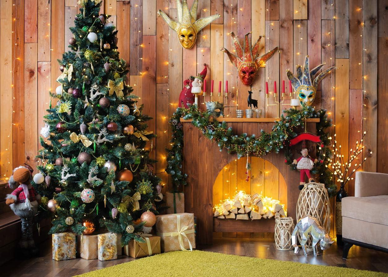 AIIKES 7x5FT Fondo de fotograf/ía de Navidad Fondo de decoraci/ón de /árbol de Navidad Fondo de Chimenea Interior Fondo de fotograf/ía de reci/én Nacido Accesorios de Estudio 11-955
