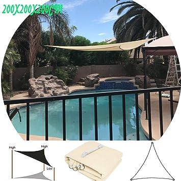 DBXD Vela de Sombra 101% protección UV Protector Solar Toldo Triangular portátil para jardín Terraza Fiesta Escuela Jardín de Infantes: Amazon.es: Hogar
