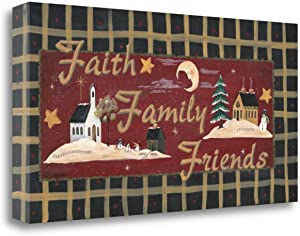 """""""Fath - Family - Friends"""" By Jo Moulton, Fine Art Giclee Print on Gallery Wrap Canvas, Ready to Hang"""