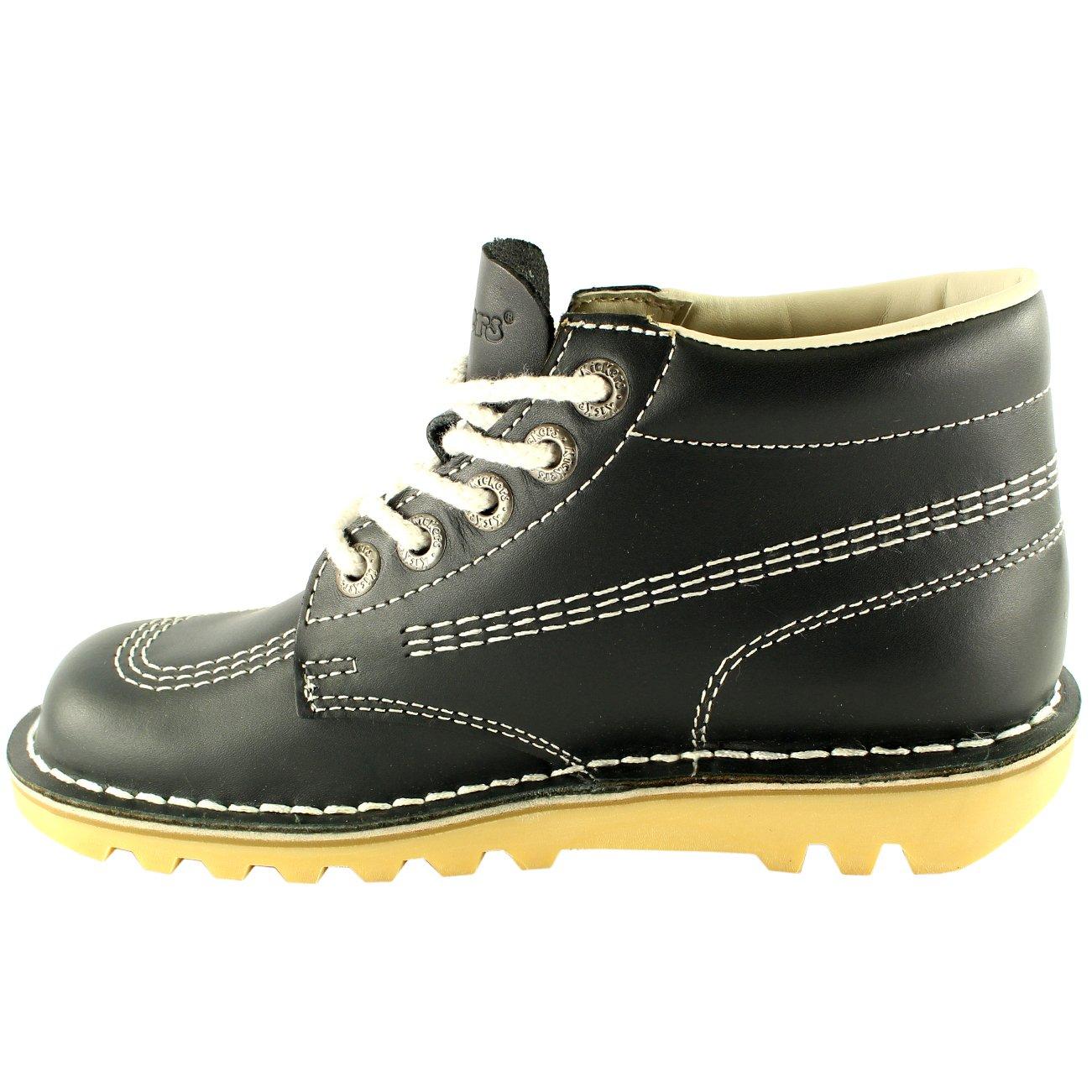 Unisex Kids Junior Kickers Kick Hi Back to School Leather Boot Shoes