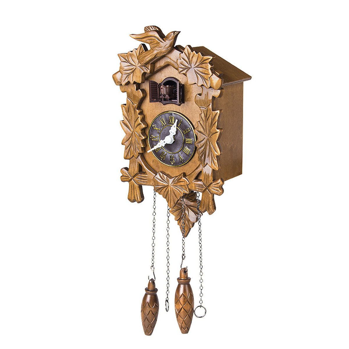 Kendal Handcrafted Wood Cuckoo Clock Shining Image SIMX025