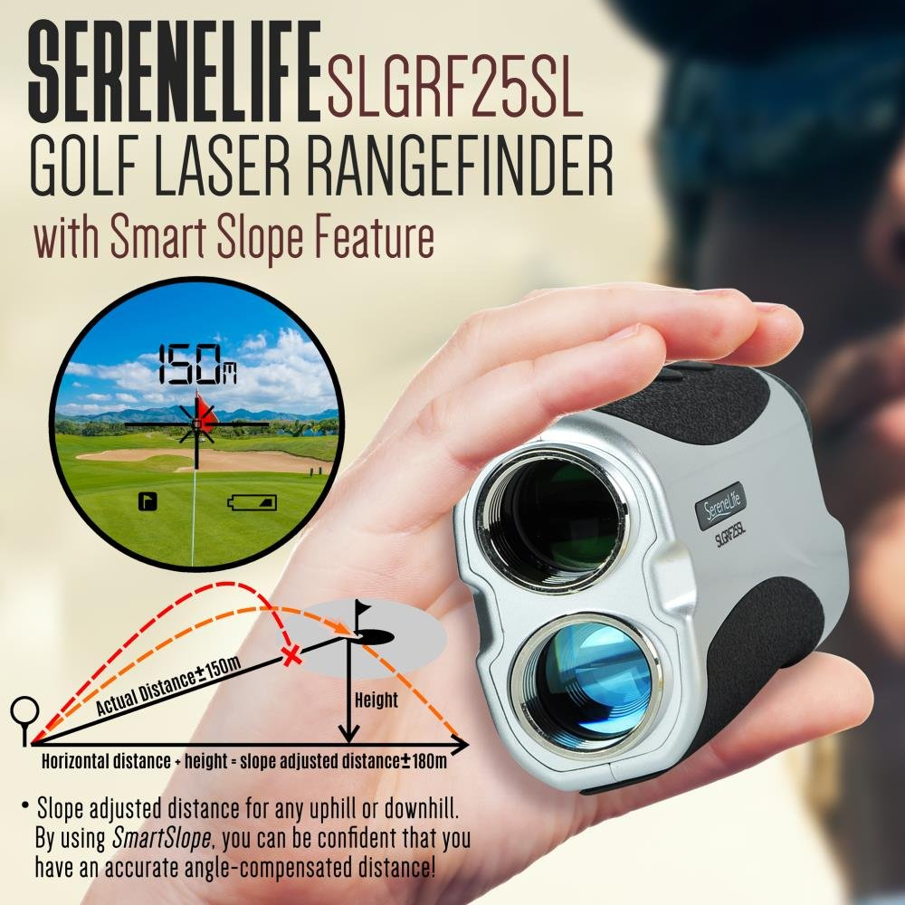 SereneLife Premium Slope Golf Laser Rangefinder with Pinsensor - Digital Golf Distance Meter - Compact Design -With Case by SereneLife (Image #6)