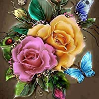 Sanwooden Retro Flower 5D DIY Resin Diamond Embroidery Painting Home Wall Art Decor