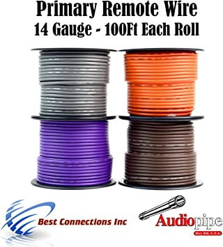 25ft Feet 12GA Gauge AWG Primary Wire Turn On Hook Up Remote Brown OFC Copper