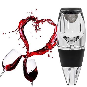 Wuudi Decantador de Vino Tinto, Aireador de Vino con Vertedor | Regalo de Lujo | Dispensador de Vino para tu Casa, Bar, Fiesta: Amazon.es: Hogar