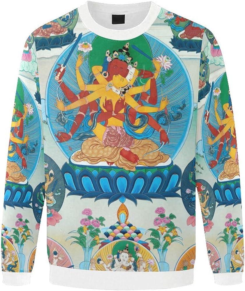 LumosSports Japanese Koi Fish Mens 3D Printed Pullover Sweatshirt Sizes S-5XL