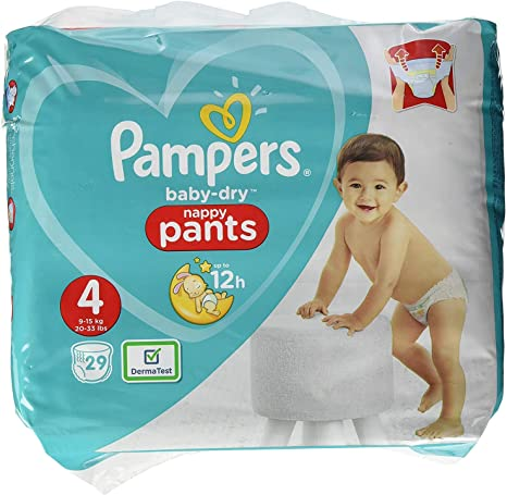 Pampers Baby-Dry Pants Lot de 29 couches Taille 4