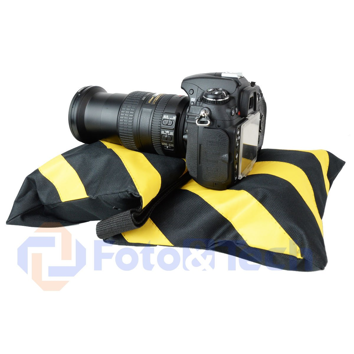 Foto&Tech 4 Pack Water Resistant 600D Oxford Heavy Duty with Internal Metal Support Sand Bag Weight Bags Saddle Bag Holds 20 LBS for Photo Video Studio Stand Tripod Indoor Outdoor (Yellow) by Foto&Tech (Image #7)