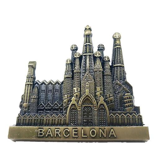 Hqiyaols Souvenir Barcelona España Refrigerador 3D Imán de Nevera ...