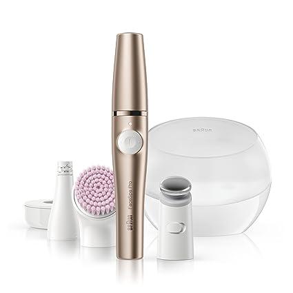 Braun FaceSpa Pro 921 - Sistema 3 en 1 con depiladora facial, cepillo limpiador facial