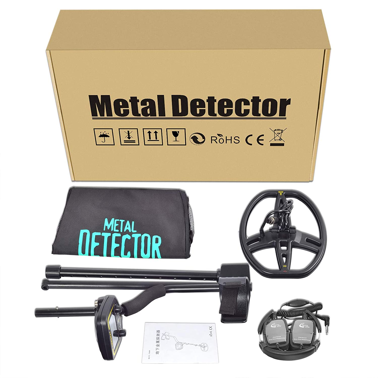 Amazon.com : Professional Metal Detector, High Sensitivity Metal Finder with LCD Display, Discrimination Mode, Distinctive Audio Prompt - Depth2.5m Scanner ...