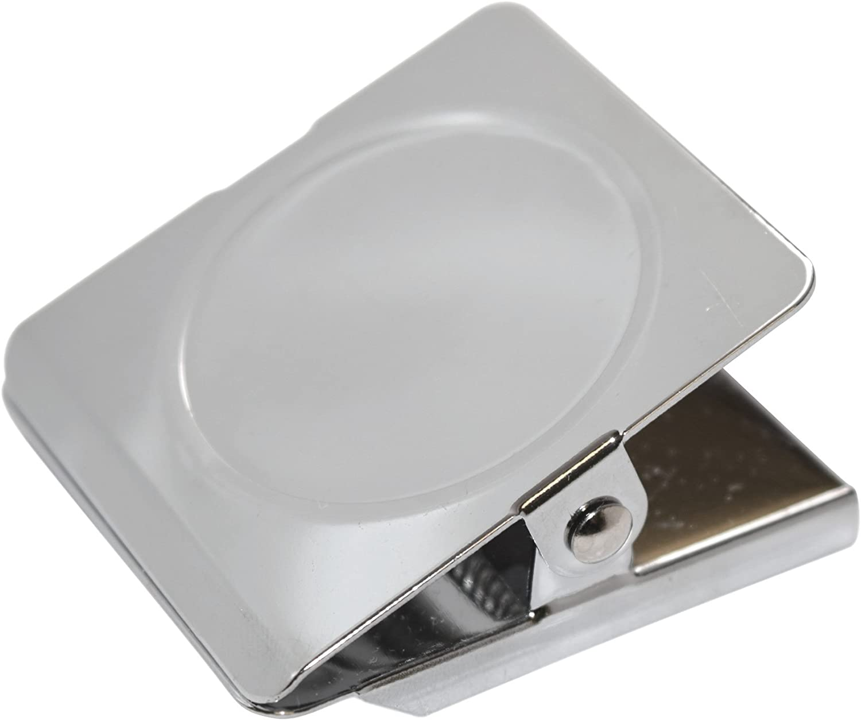 totalElement Large 1.75 Inch Square Magnetic Metal Clip, Refrigerator Magnet (4 Pack)