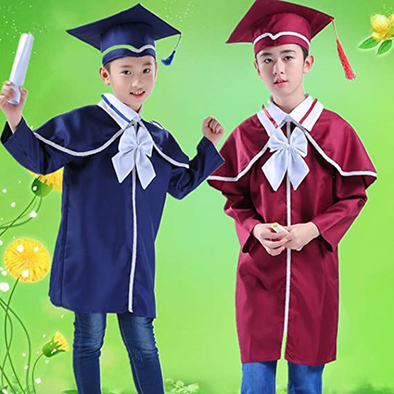LUOEM Children\'s Graduation Gown and Cap Doctoral Cap and Gown ...