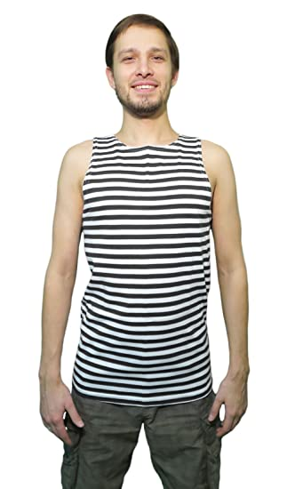 ef18d601b1 Russian Military Striped Tank Top Sleeveless Shirt Telnyashka: Amazon.ca:  Clothing & Accessories