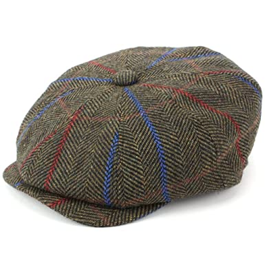 ae72d1a6a9bb7 Hawkins Tweed Gatsby Newsboy 8 Panel Flat Cap  Amazon.co.uk  Clothing