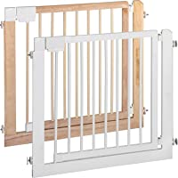 ib style-KOLBY | Treppengitter zum Klemmen| aus massivem Holz | 3 Größen