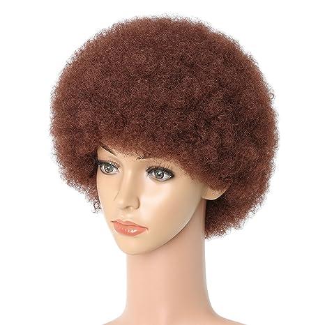 Afro Peluca Rizada Corta Para Las Mujeres Rojo Bob Wave Hair, Verano Nuevo Estilo,
