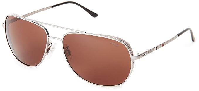 info for d36ff 09952 Polo Ralph Lauren Ph 3059 Sunglasses Metallic Gray / Brown ...