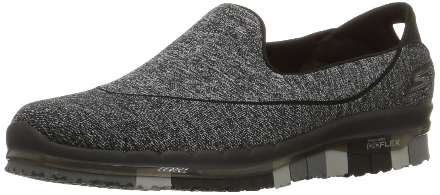 Skechers Performance Women's Go Flex Slip-On Walking Shoe, Black, 7 M US