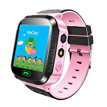 Amazon.com: Jsbaby Kids Smart GPS Watch 1.44 inch Touch Smartwatch GPS Kid Tracker Children Girls Boys Birthday Gift Camera SIM Calls Anti-Lost SOS GPS ...