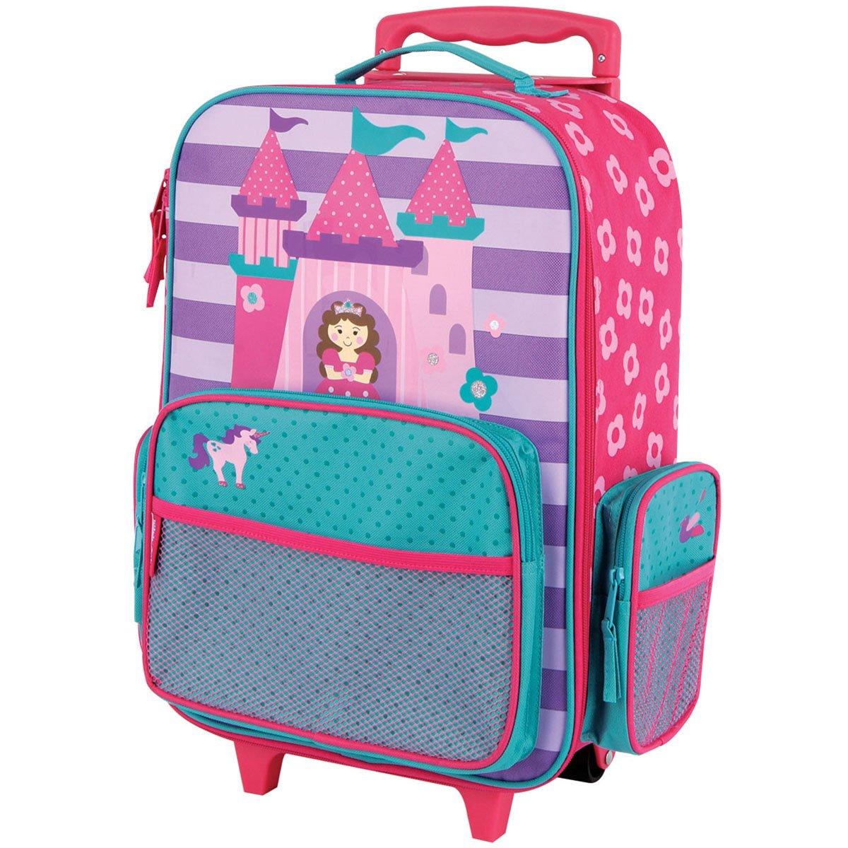 Stephen Joseph Girls Classic Rolling Luggage Backpack Princess One Size