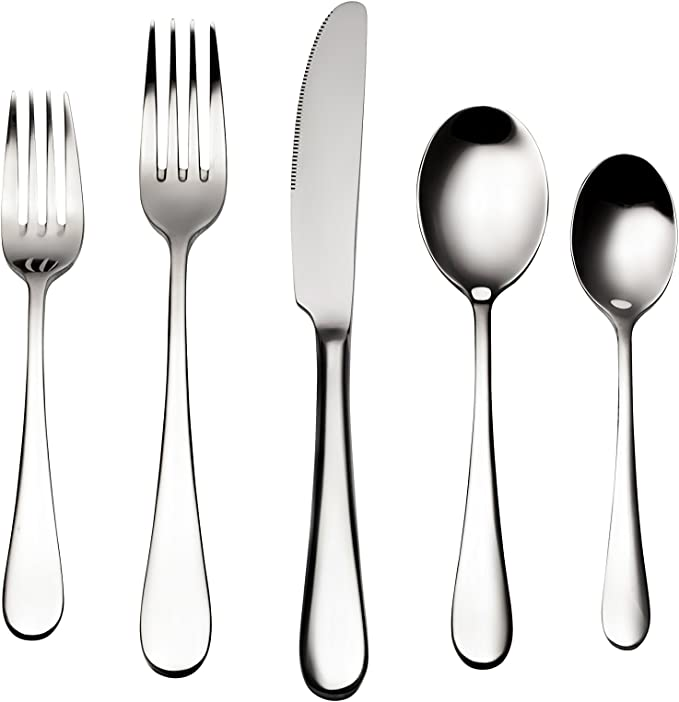 Amazon.com: Bruntmor, ALBA Silverware Royal - Cubertería de ...