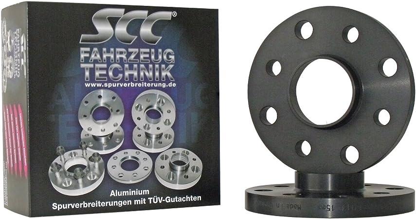 Silber eloxiert mit Radschrauben f/ür Mercedes Benz 2x20mm SCC Fahrzeugtechnik Distanzscheiben Set 40mm