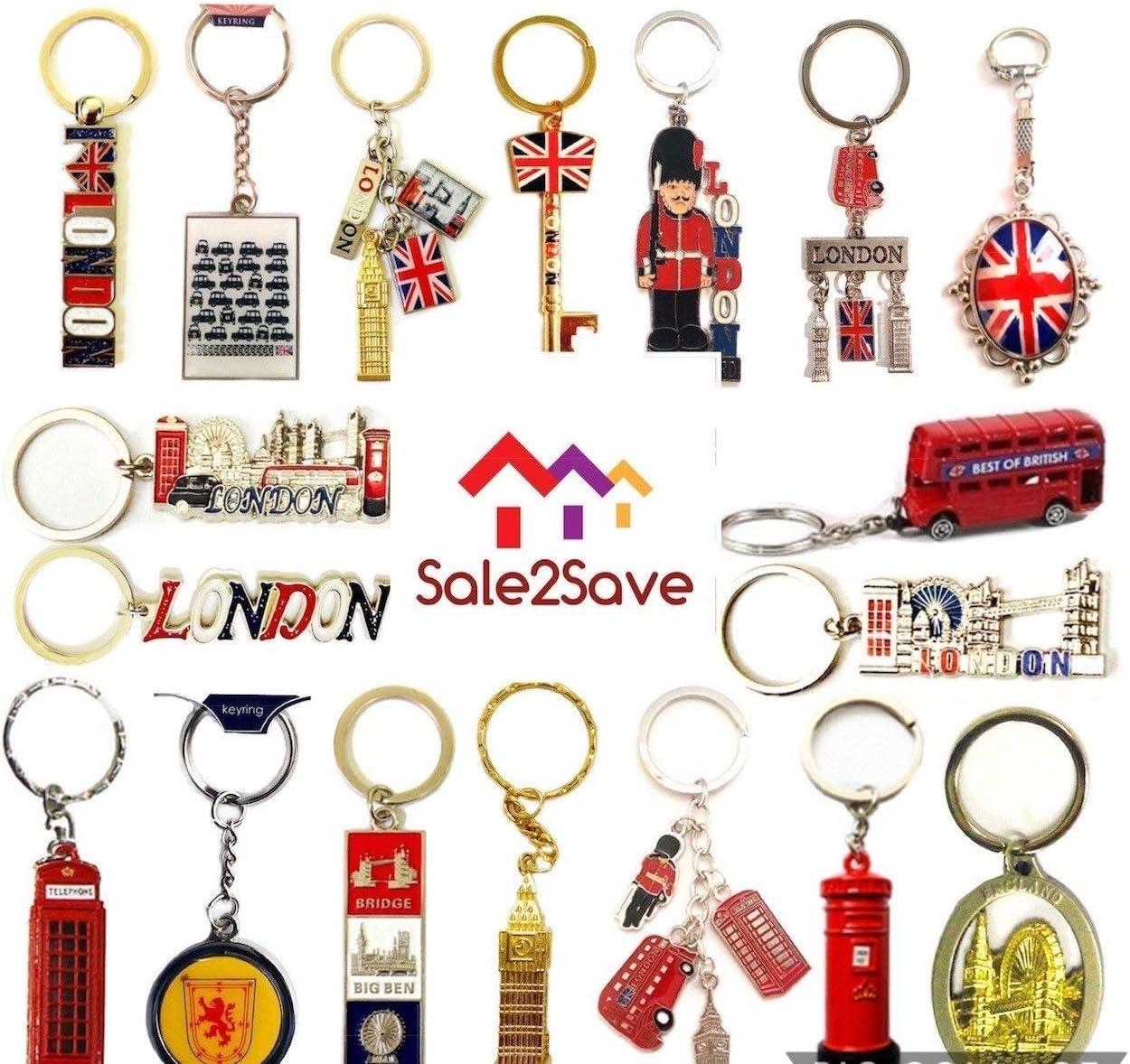 BRITISH KEYRINGS LONDON ENGLAND SOUVENIRS UNION JACK KEY CHAINS TOP 12 KEY RINGS