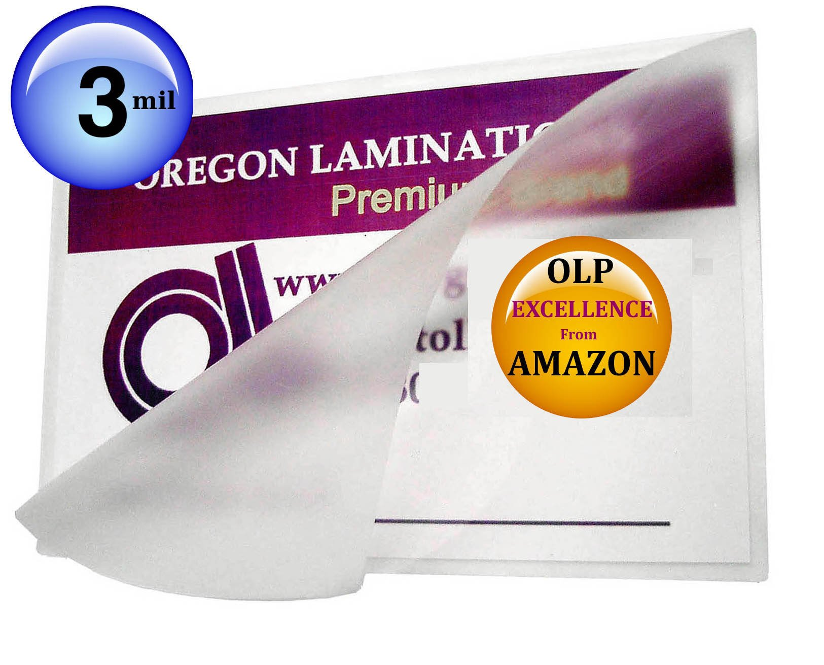 Qty 200 Double Letter Laminating Pouches 3 Mil 11-1/2 x 17-1/2 Hot Laminator Sleeves by Oregon Lamination Premium