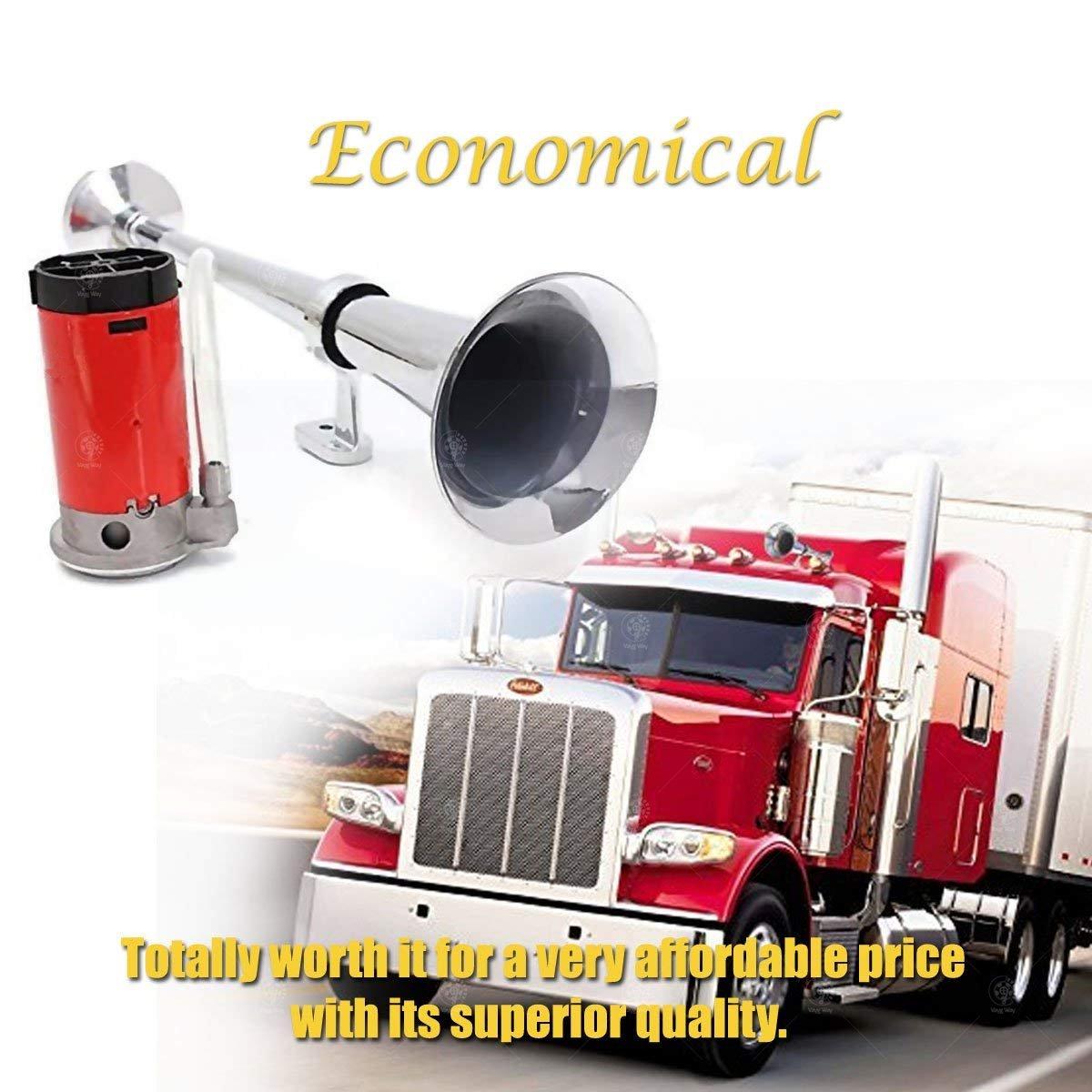 VaygWay Air Horn 12v Loud-150DB Train Horn Compressor Kit-Single Trumpet Car Air Horn-Truck Vehicle Train Horn Kit
