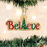 Old World Christmas Believe Glass Blown Ornament