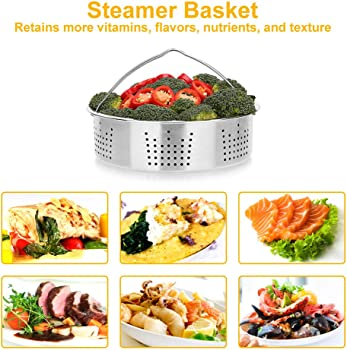 Bayka Instant Pot Accessories Set with Steamer Basket