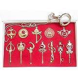 Metall Schlüsselanhänger Heb 12 Produkte Magic Wand Props Halsketten Anhänger Cosplay Kostüm Zubehör