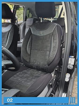 Maß Sitzbezüge Kompatibel Mit Vw Golf Plus Fahrer Beifahrer Ab Bj 2005 2014 Farbnummer 02 Baby