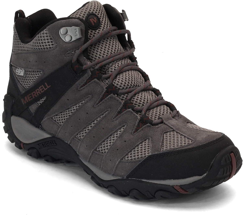 Merrell Men s, Accentor Waterproof Mid Ventilator Hiking Boot Granite 14 M