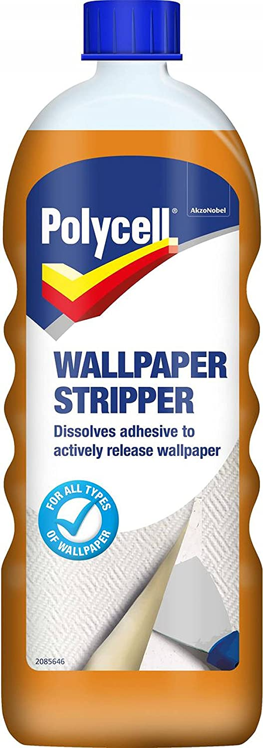 Chemical stripper wallpaper