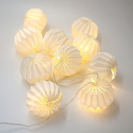 Amazon 21m Led Origami Light String With 10 Origami Flowers