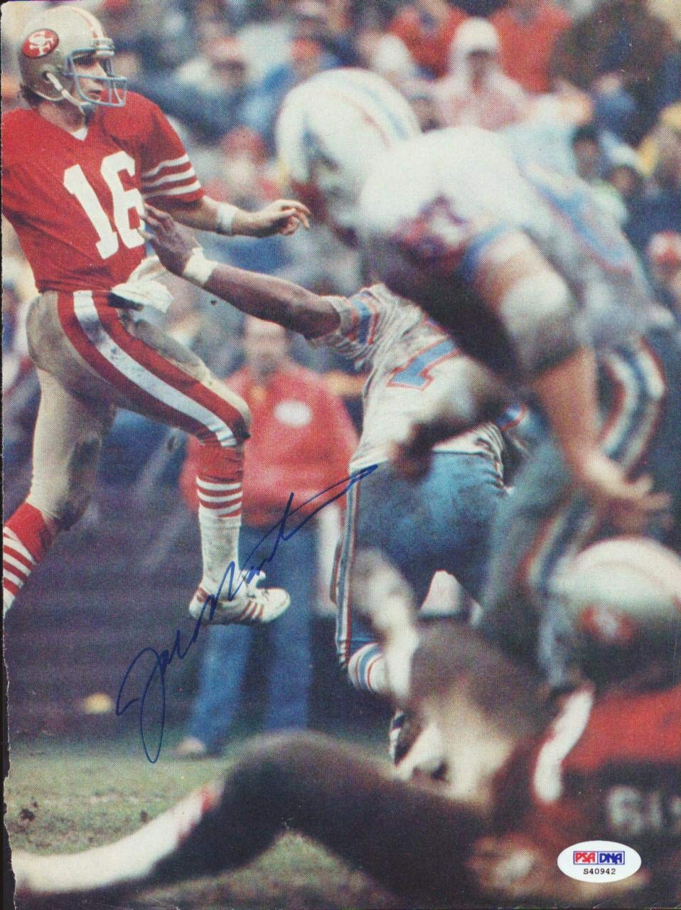 Joe Montana Autographed Magazine Page Photo San Francisco 49ers #S40942 PSA/DNA Certified Autographed NFL Magazines