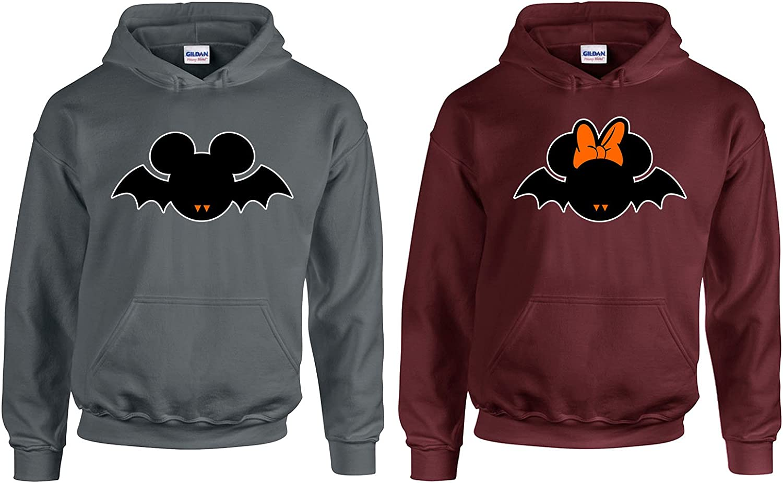 Black-Black,Men-XXL//Women-S Goodshoppers Popular Cartoon Head Couple Hoodie