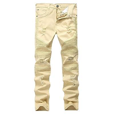 167b80a573386 Battercake Jean en Denim pour en Homme Détruit Jean Jean Usedlook Slim  Confortable Jean pour Homme