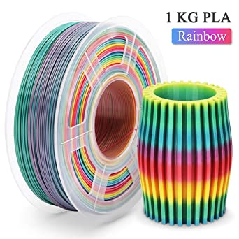 Filamento PLA Rainbow,3D Warhorse Filamento PLA 1.75 mm,3D Printer ...