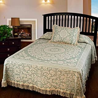product image for Queen Elizabeth Matelasse Bedspread - Full - Sage