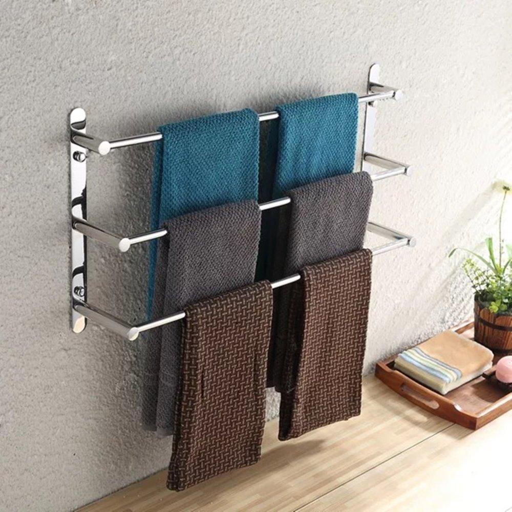 Ruddock RM 3 Tiers Towel Racks 304 Stainless Steel Polished Chrome Square Bathroom Towel Bar(15.5 L) NuoBin Trade Co. Ltd RM1